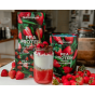 pea protein mixed strawberry range