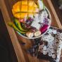 whey protein banana flavour smoothie bowl