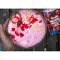 whey protein isolate mixed strawberry sachet smoothie bowl