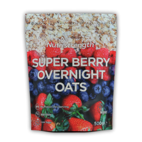 super berry overnight oats
