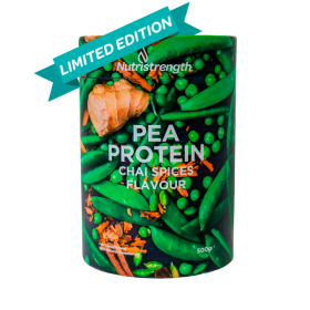 pea protein chai spices flavour