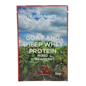goat and sheep protein strawberry flavour sachet