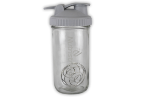 glass shaker bottle with wireball