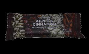 Vegan protein slice apple and cinnamon