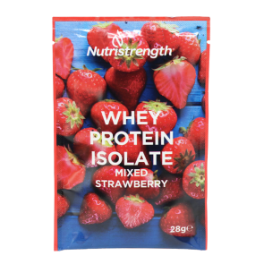 whey protein isolate mixed strawberry sachet