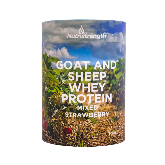 Goat and Sheep Whey Protein Mixed Strawberry