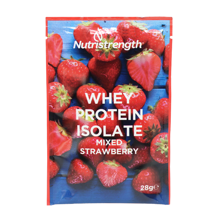 Whey Protein Isolate Mixed Strawberry Sachets