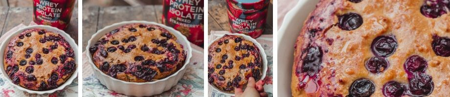 eggless blueberry cake