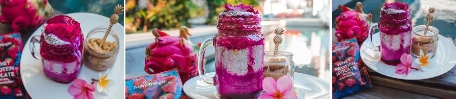 dragon fruit smoothie chia pudding banner