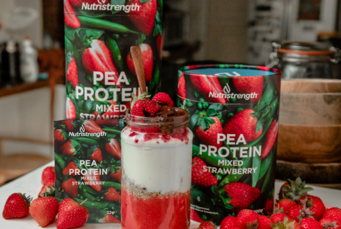 Pea Protein Mixed Strawberry Sachets