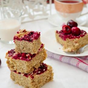 Berry Cherry Flapjacks