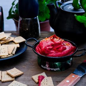 Rosemary Crackers & Beetroot Hummus