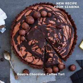 Dark Chocolate Coffee Tart - Vegan, Gluten/Dairy free