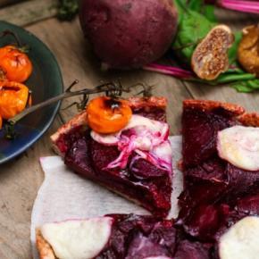 Beet & Fig Tart with Goat Cheese