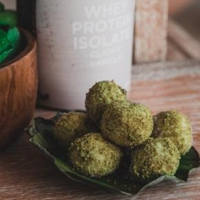 Pistachio Coconut Protein Balls