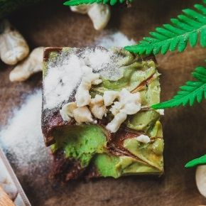 Avocado Banana Raw Vegan Protein Cake