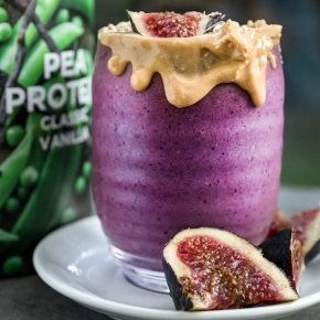 Fig & Blueberry Protein Smoothie with plant milk