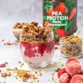 Mixed Berry Pecan and Cranberry Protein Granola