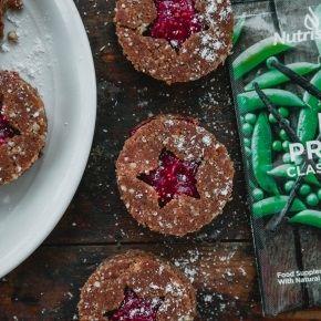 Raw Vegan Christmas Protein Jam Cookies