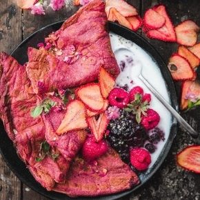 Vegan Pink Crepes